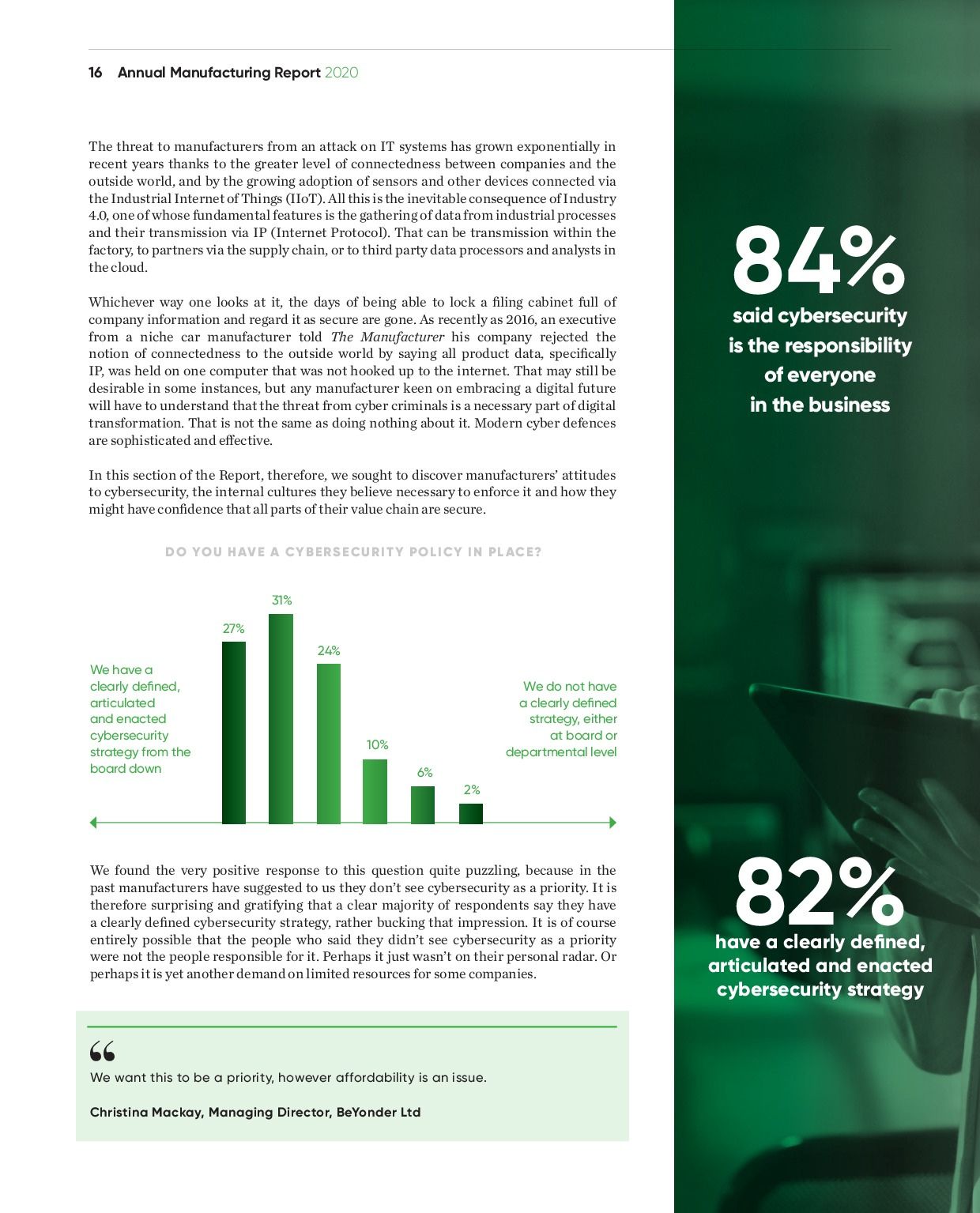 Annual Manufacturing Report 2020   Page 16