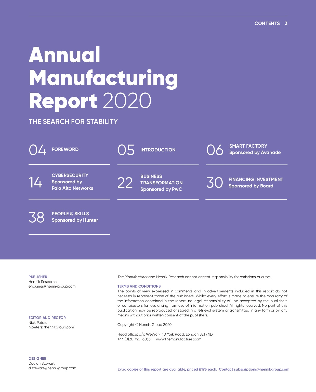 Annual Manufacturing Report 2020   Page 3