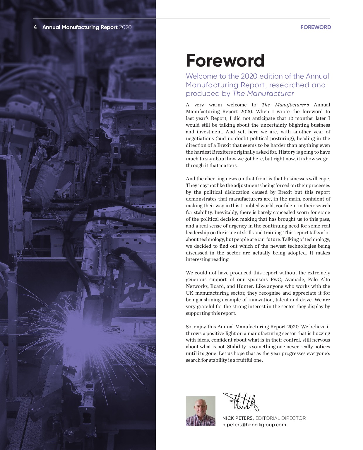Annual Manufacturing Report 2020   Page 4