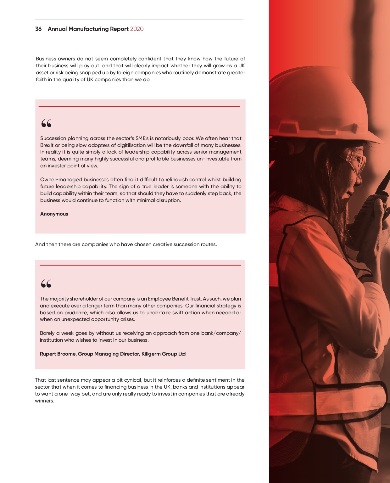 Annual Manufacturing Report 2020   Page 36