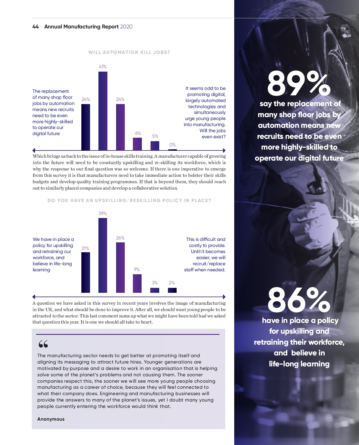 Annual Manufacturing Report 2020   Page 44