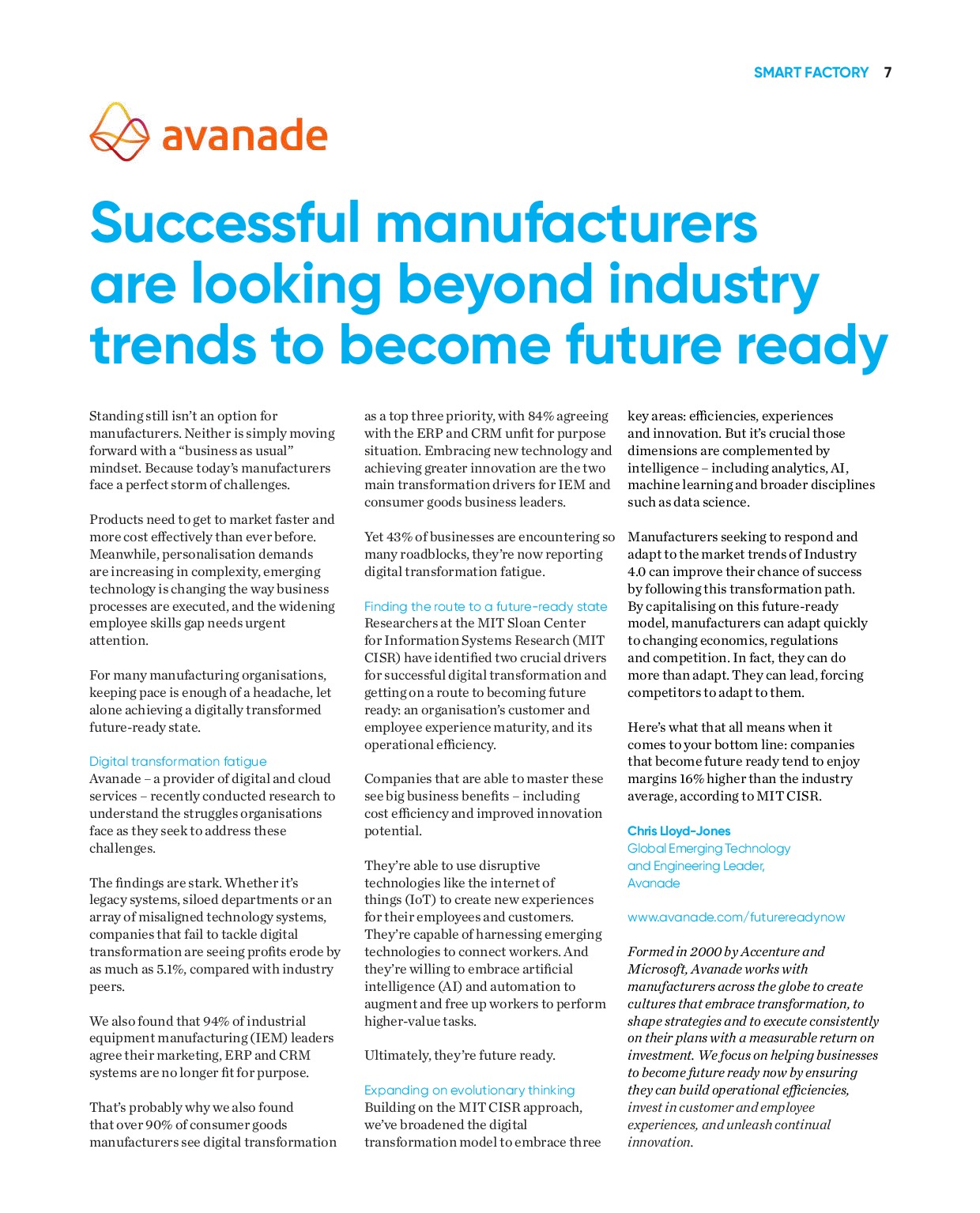Annual Manufacturing Report 2020   Page 7