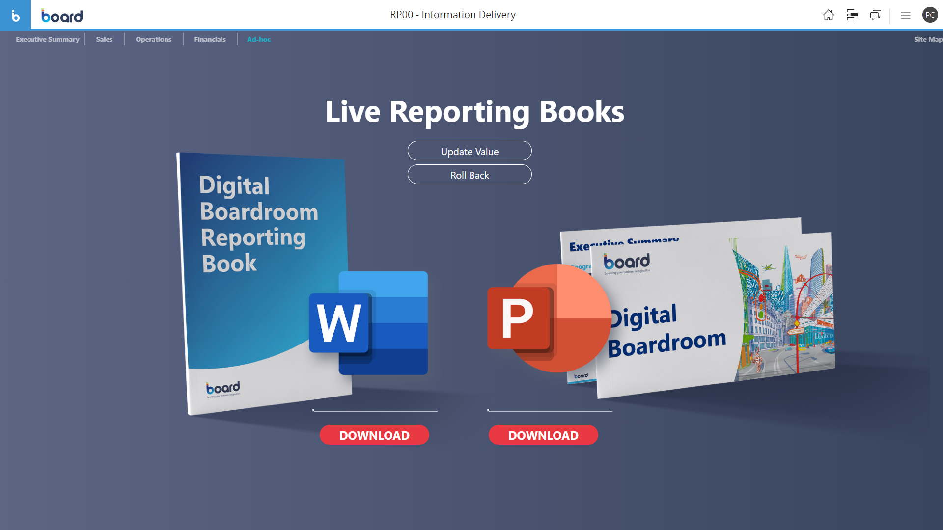 Sample of Automatic reporting book software screen