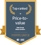 BARC price-to-value badge