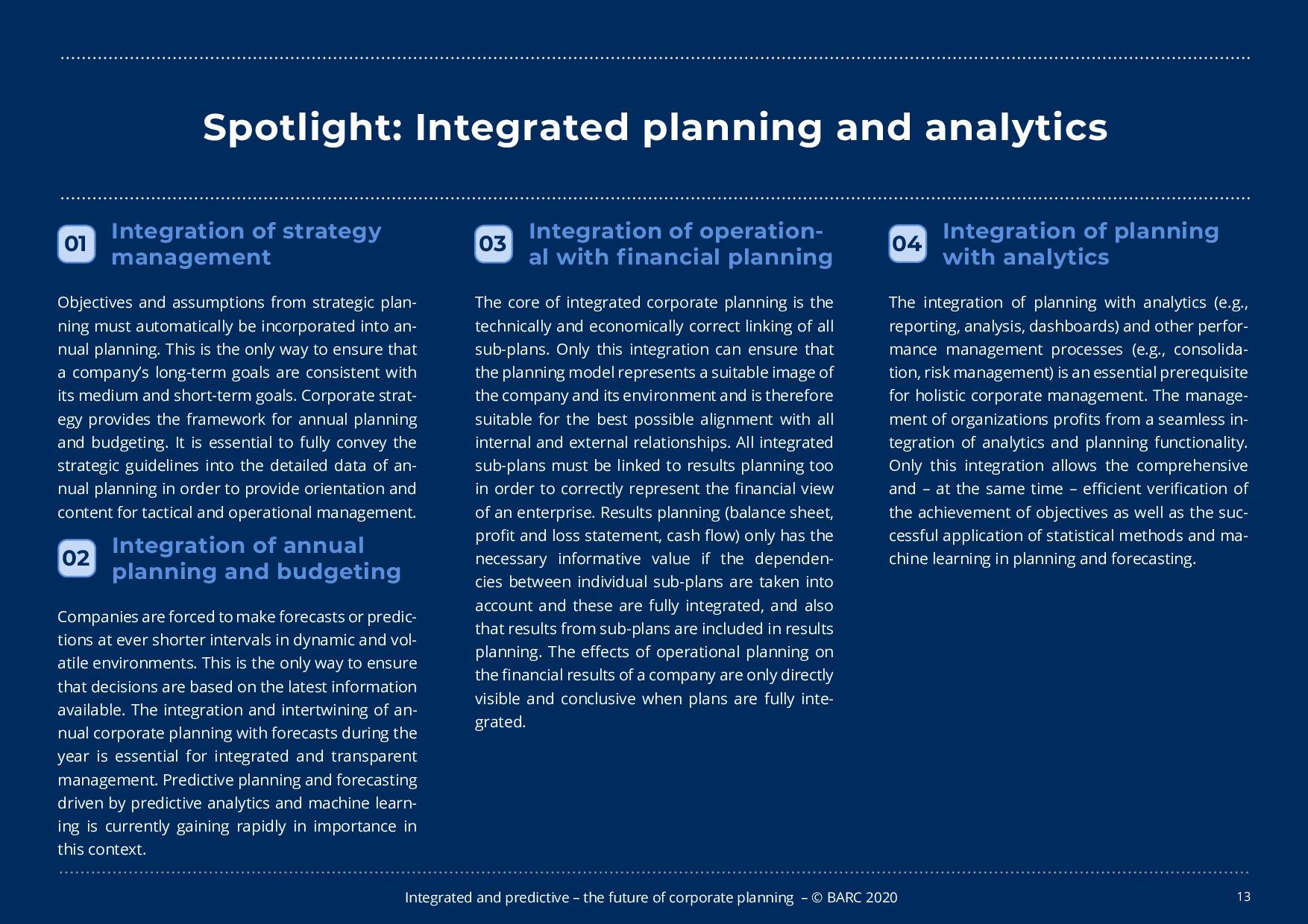 BARC – 統合と予測 – 経営計画の未来 | Page 13