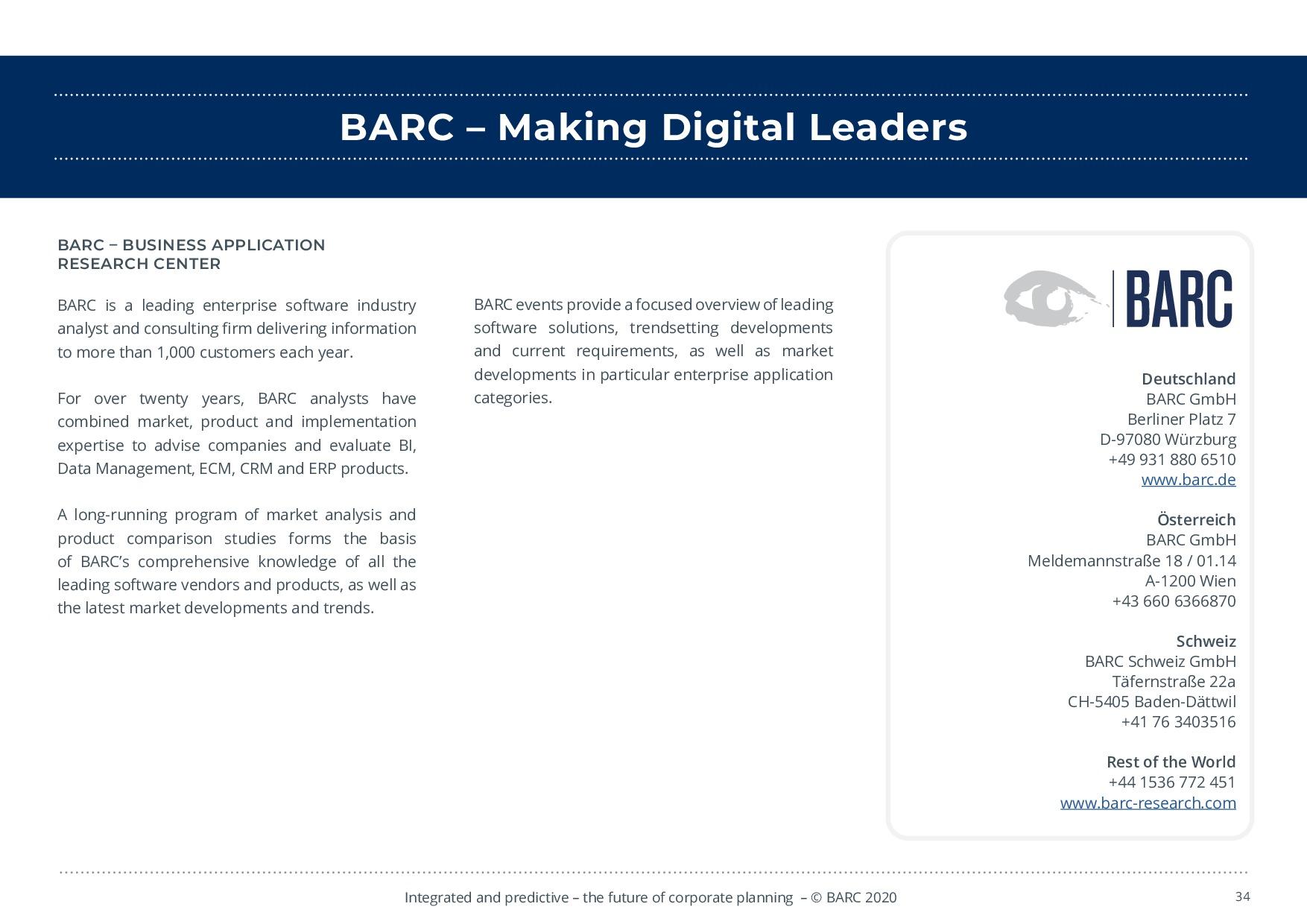 BARC – 統合と予測 – 経営計画の未来 | Page 34