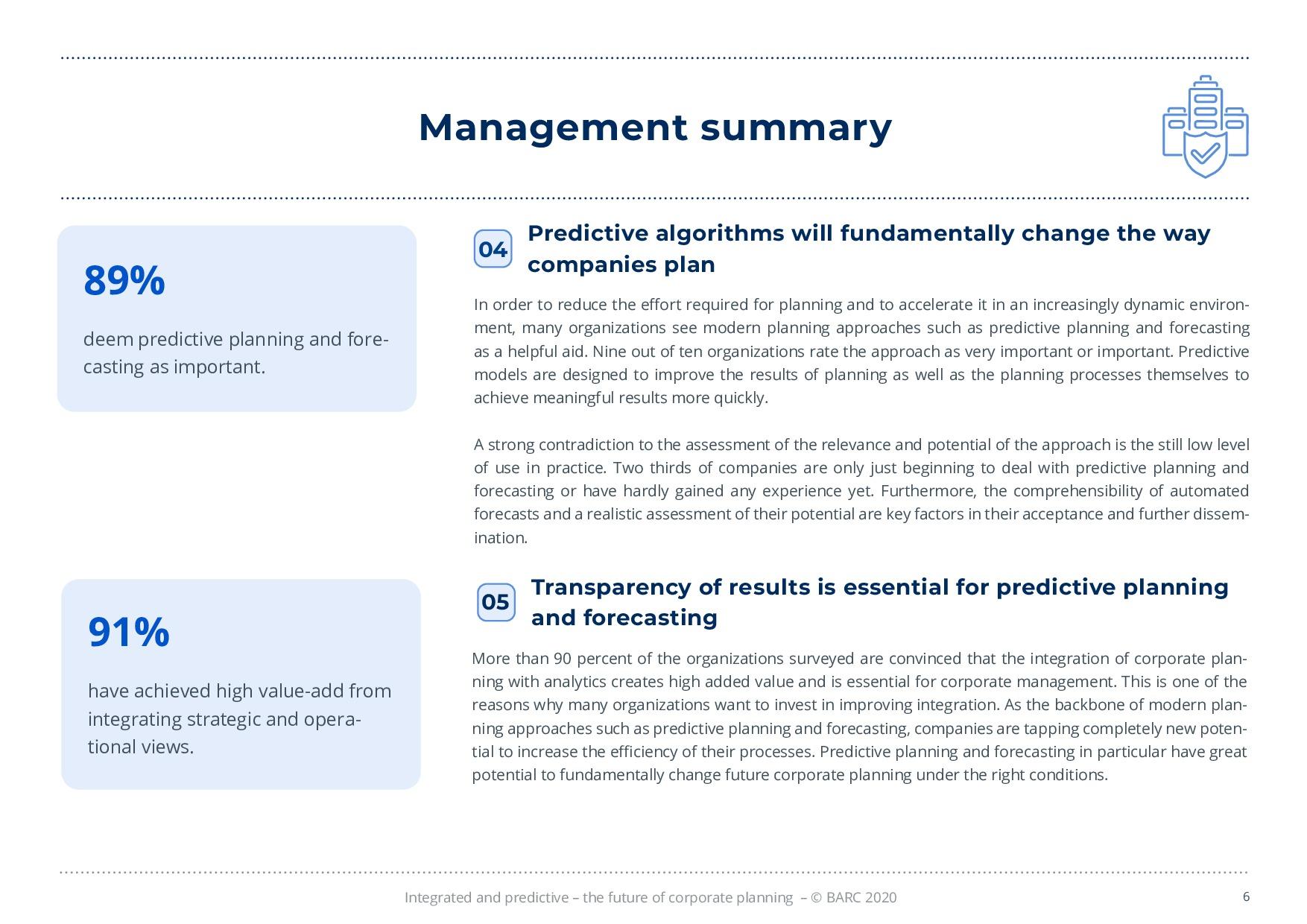 BARC – 統合と予測 – 経営計画の未来 | Page 6