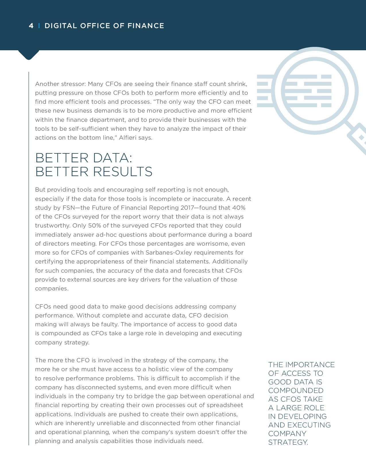 CFO - How Decision-Making Platforms Transform Financial Reporting and FP&A | Page 4