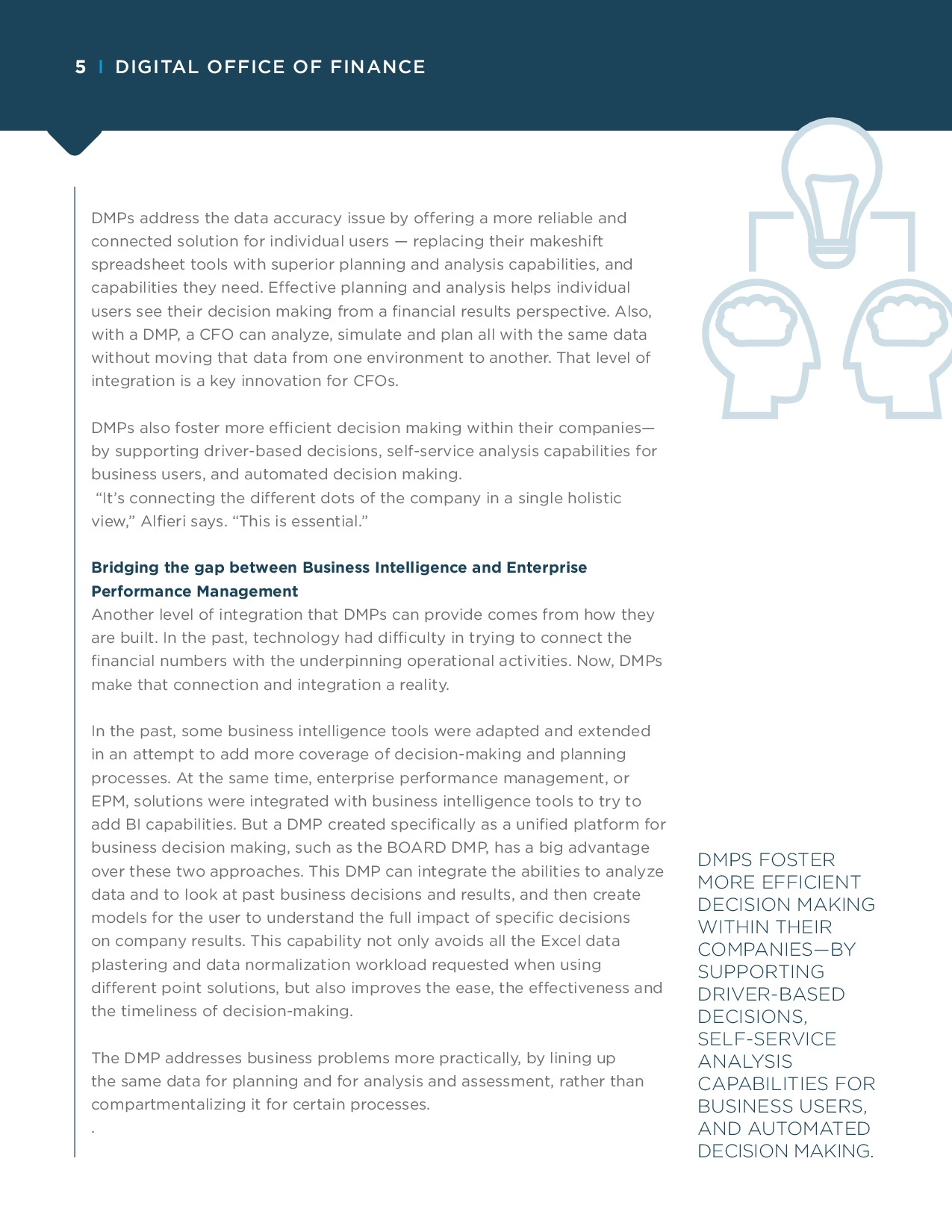 CFO - How Decision-Making Platforms Transform Financial Reporting and FP&A | Page 5