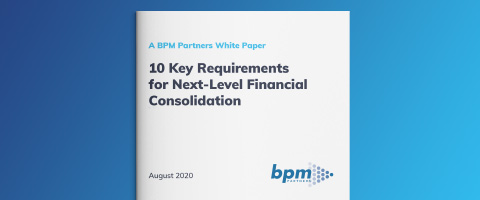 BPM Partners - 10 key requirements for next-level financial consolidation
