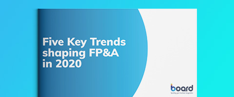 Five key trends shaping FP&A in 2020