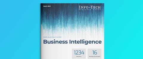 Info-Tech SoftwareReviews BI Data Quadrant 2021