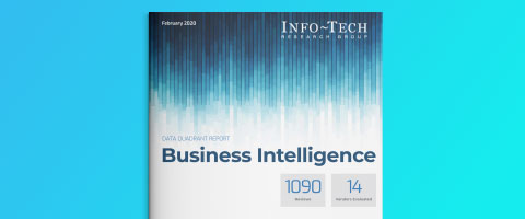 レポート - Info-Tech Business Intelligence Data Quadrant Report 2020