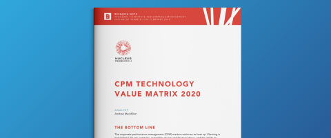 レポート:Nucleus Research CPM Value Matrix 2020