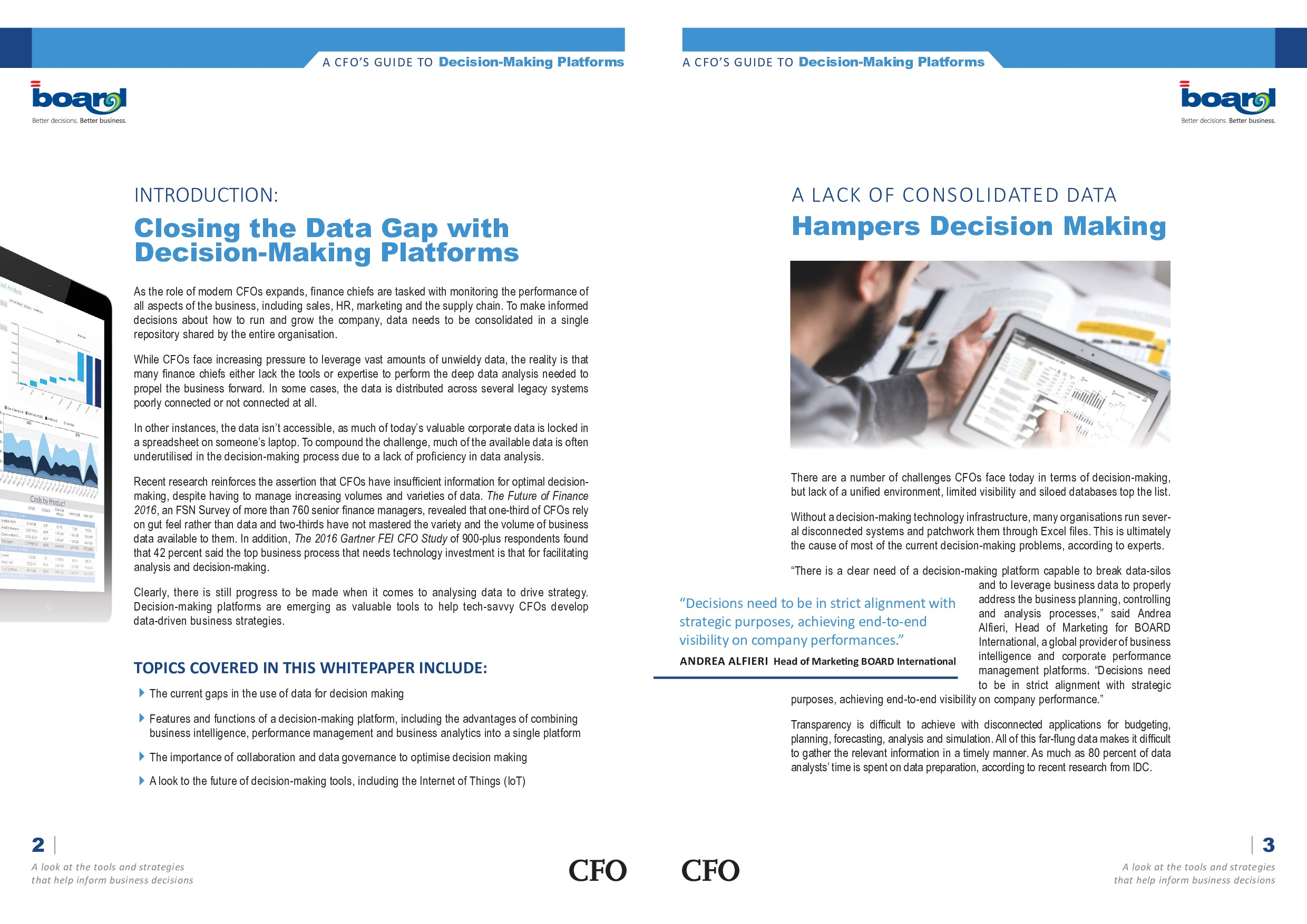 A CFO's guide to Decision-Making Platforms   Page 2