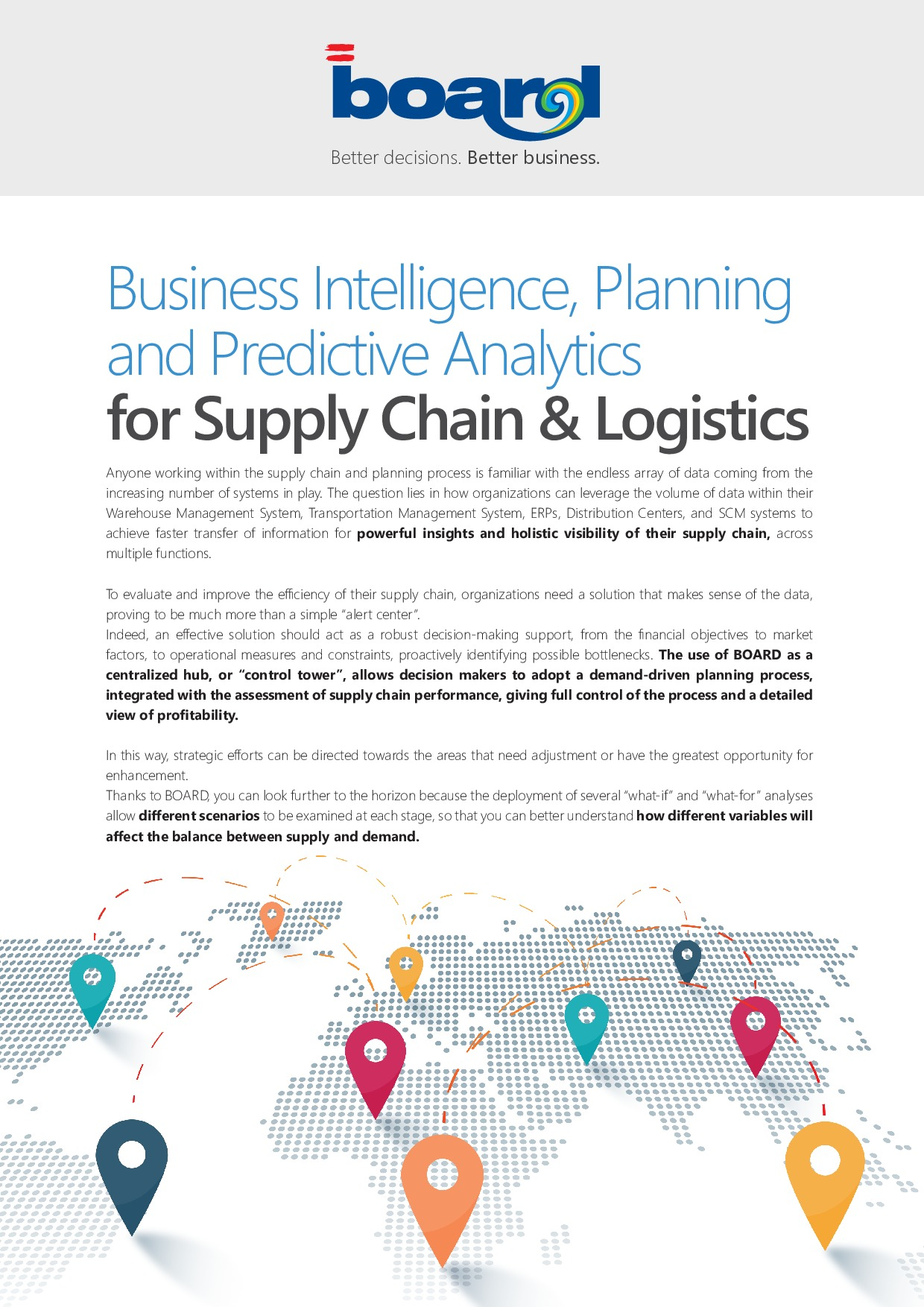 Business Intelligence, Planning and Predictive Analytics for Supply Chain & Logistics | Page 1