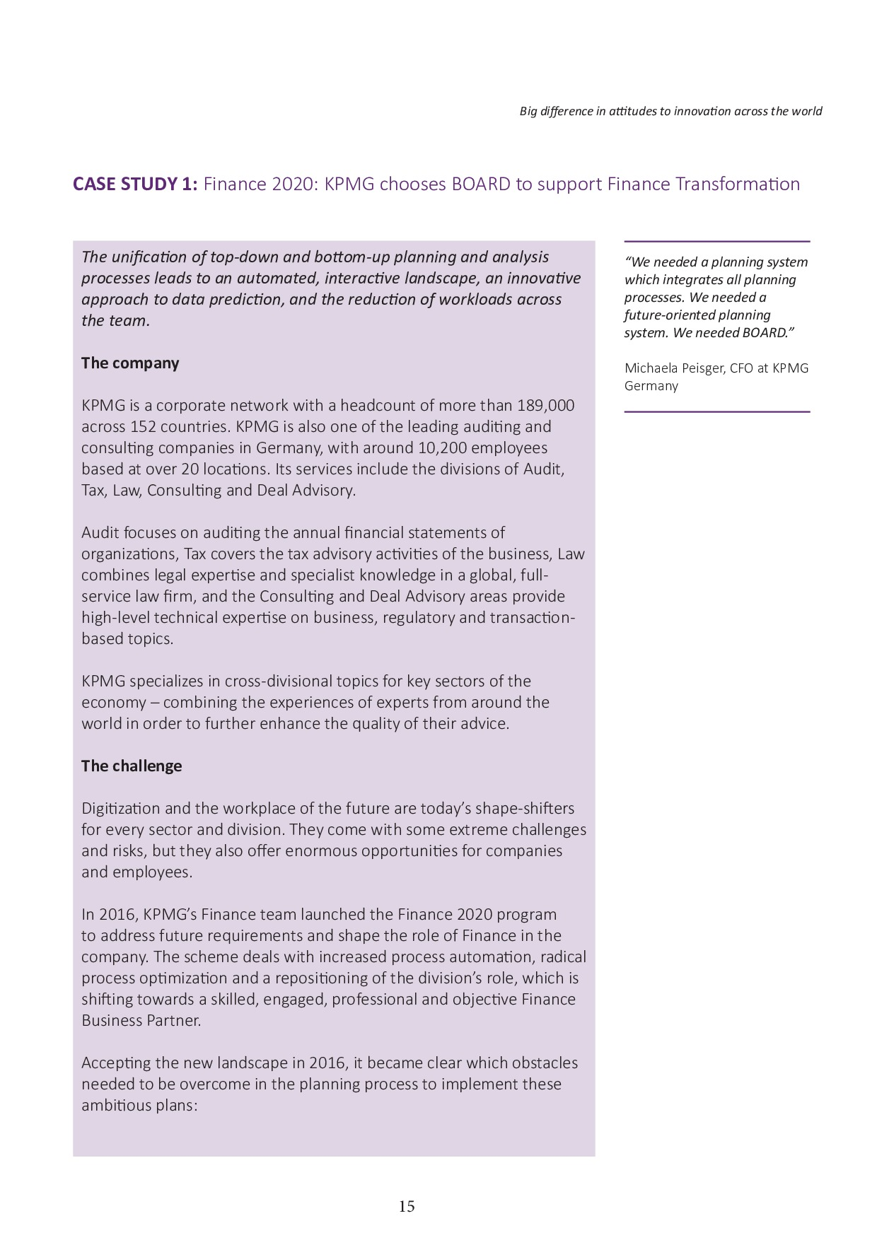 FSN - Innovation in Financial Reporting Survey Asia Pacific | Page 15
