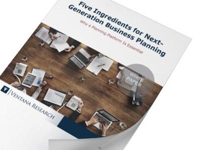 Ventana Research – 5 Zutaten für die Unternehmensplanung der nächsten Generation
