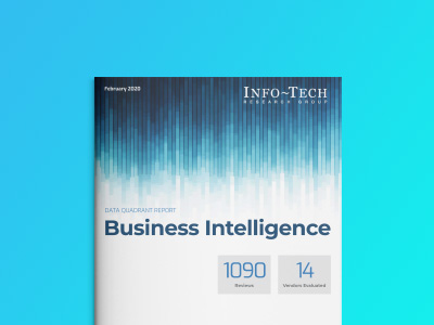 レポート - Info-Tech Business Intelligence Data Quadrant Report 2020