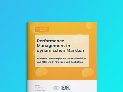 Performance Management in dynamischen Märkten – BARC-Studie 2020