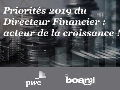Priorités 2019 du Directeur Financier