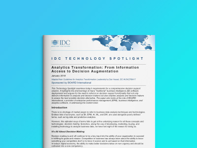 IDC Technology Spotlight: Vom Informationszugang hin zur Decision Augmentation