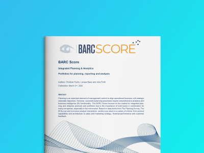 レポート - BARC Score Integrated Planning and Analytics 2020