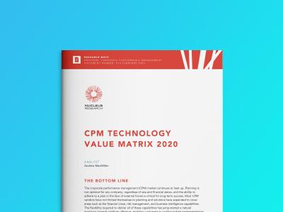 Nucleus Research CPM Value Matrix 2020