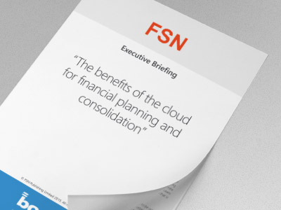 The benefits of the cloud for financial planning and consolidation
