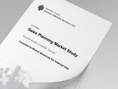 Dresner Advisory - Sales Planning Market Study