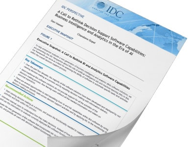 IDC Perspective - A Call to Rethink Decision Support Software Capabilities