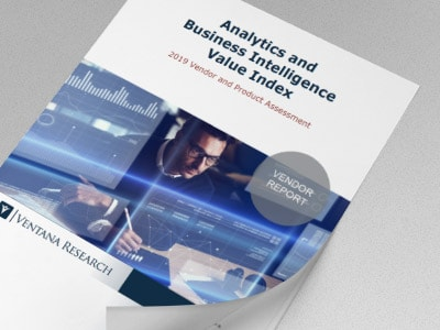 Ventana Research - Analytics and Business Intelligence Value Index 2019