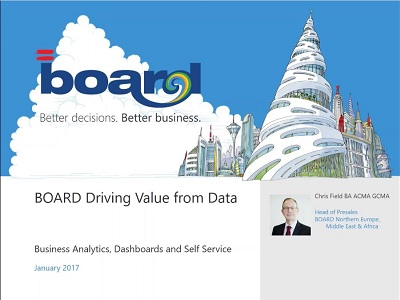 Driving Value from Data Business Analytics, Dashboards and Self-Service