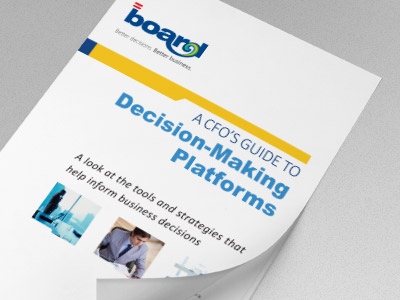 CFO guide decision making platform