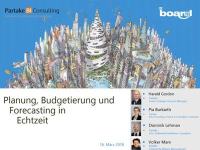 Webinaraufzeichnung: Planung, Budgetierung und Forecasting in Echtzeit