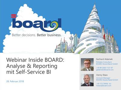 Webinaraufzeichnung: Analyse & Reporting mit Self-Service BI