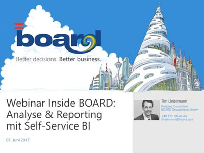 Webinar: Inside BOARD Analyse Reporting mit Self-Service BI