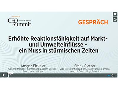 CFO-Summit (Handelsblatt): Erhöhte Reaktionsfähigkeit auf Markt- und Umwelteinflüsse – ein Muss in stürmischen Zeit