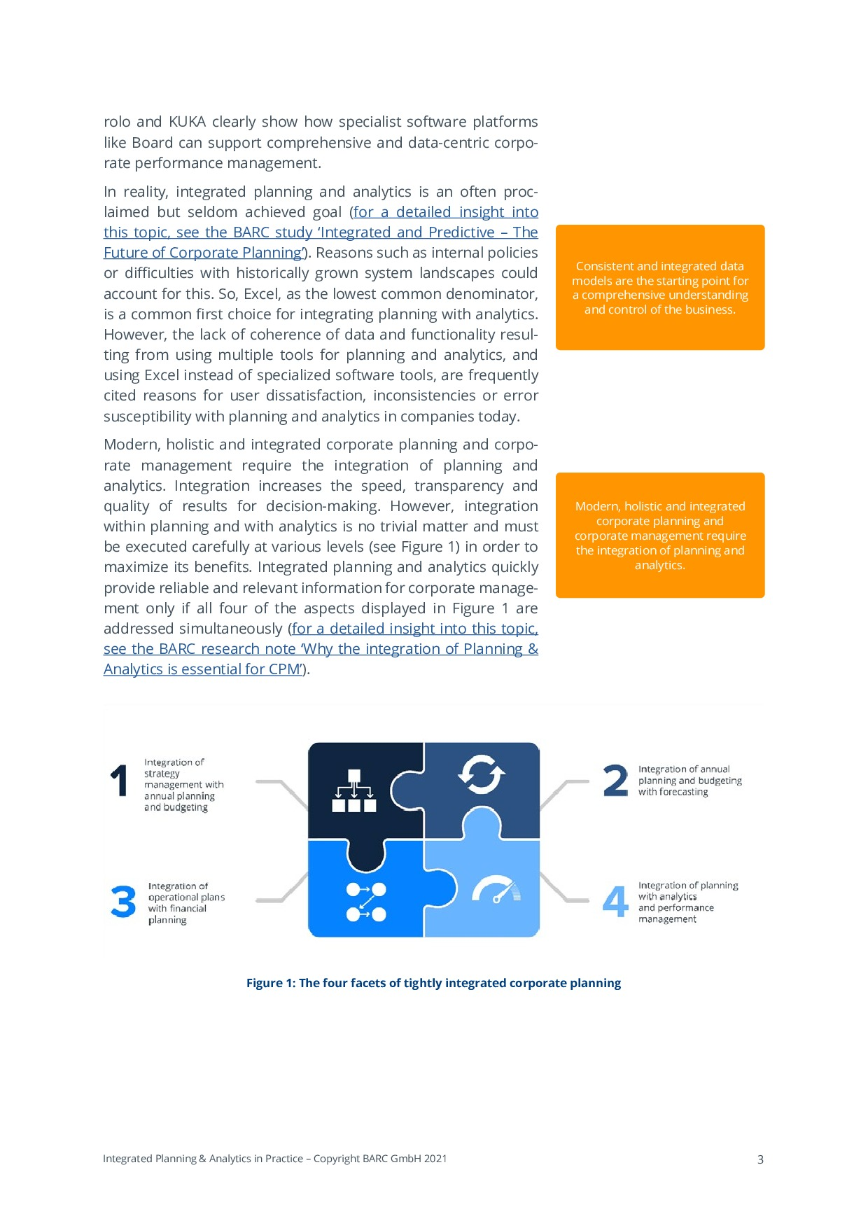 BARC - Integrated Planning & Analytics in Practice   Page 3