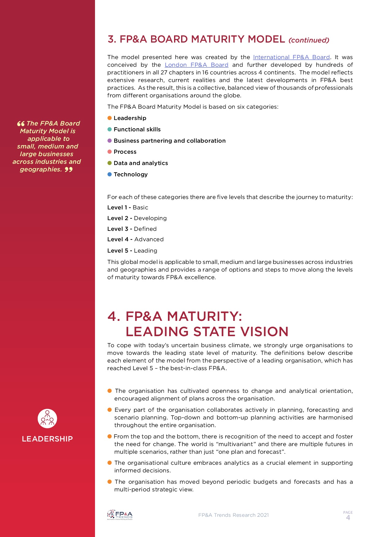 FP&A Board Maturity Model | Page 6