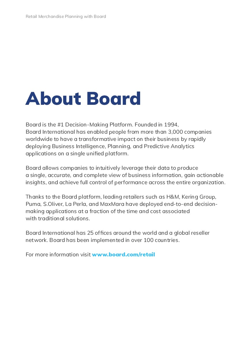 Retail Merchandise Planning with Board | Page 18