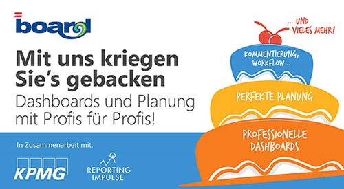 Eventreihe BOARD, reportingimpulse, KPMG zu Dashboards und Planung